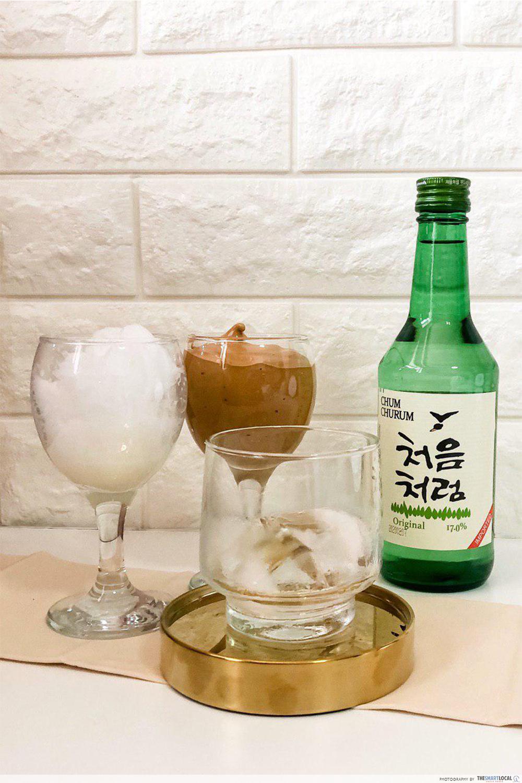 Soju recipes - Dalgona coffee soju