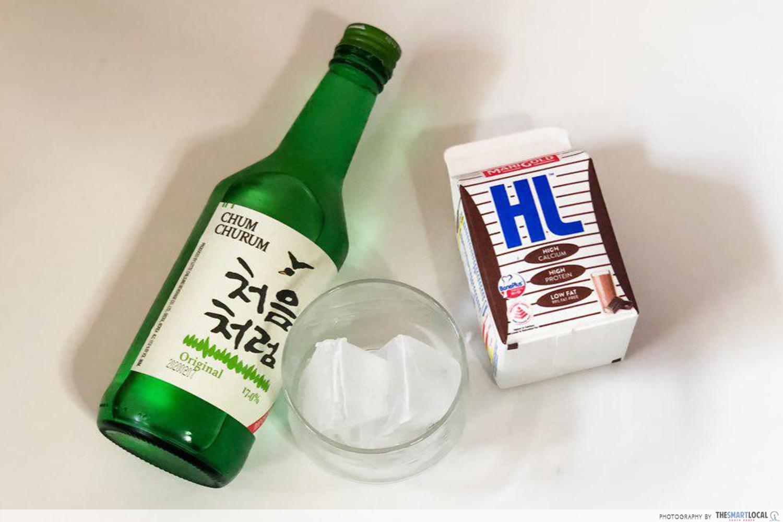 Soju recipes - Chocolate milk and soju