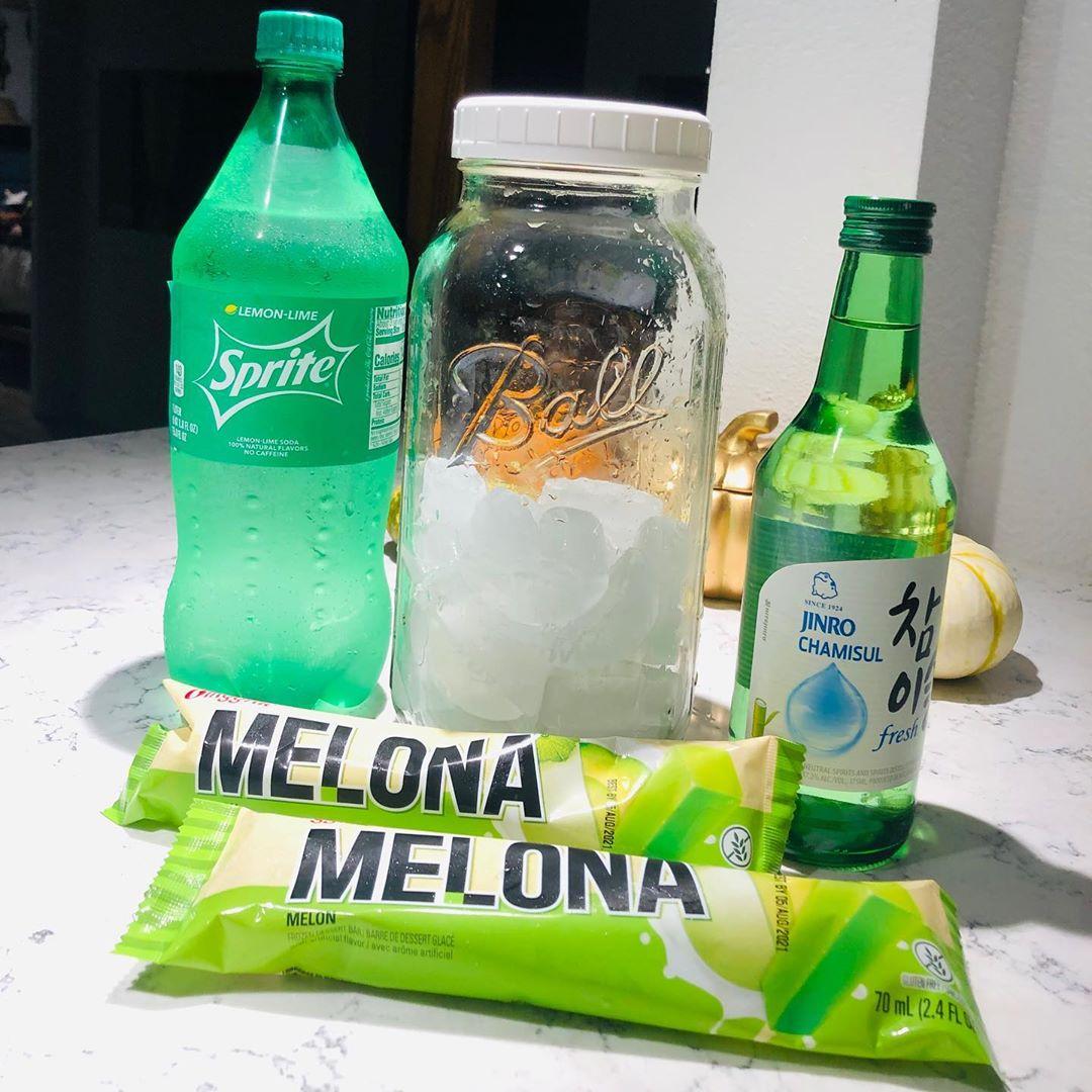 Soju recipes - Melona bar soju